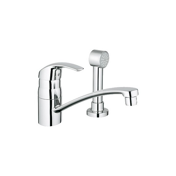 Buy Grohe 31134 Eurosmart Kitchen Faucet 2 H Wside Spray At Discount