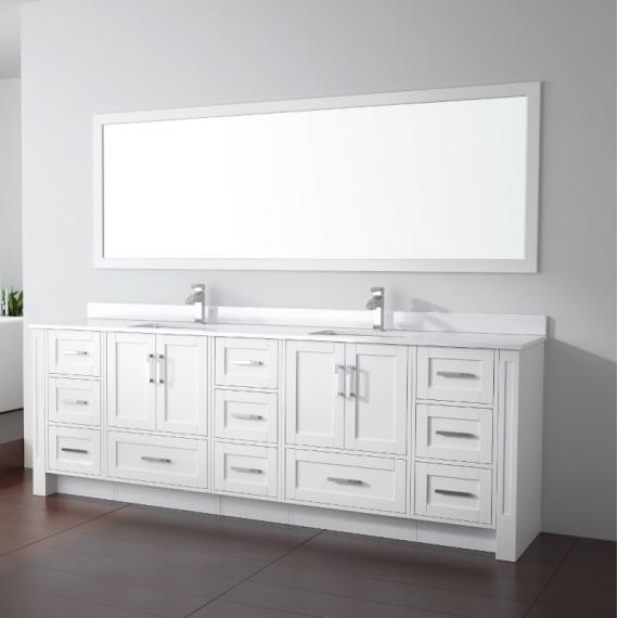 Buy Virta Flow Floor Mount 96 Inch Double Sink Vanity Without Countertop