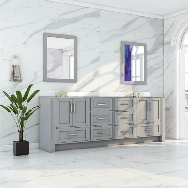 Buy Virta Flow Floor Mount 90 Inch Double Sink Vanity Without Countertop